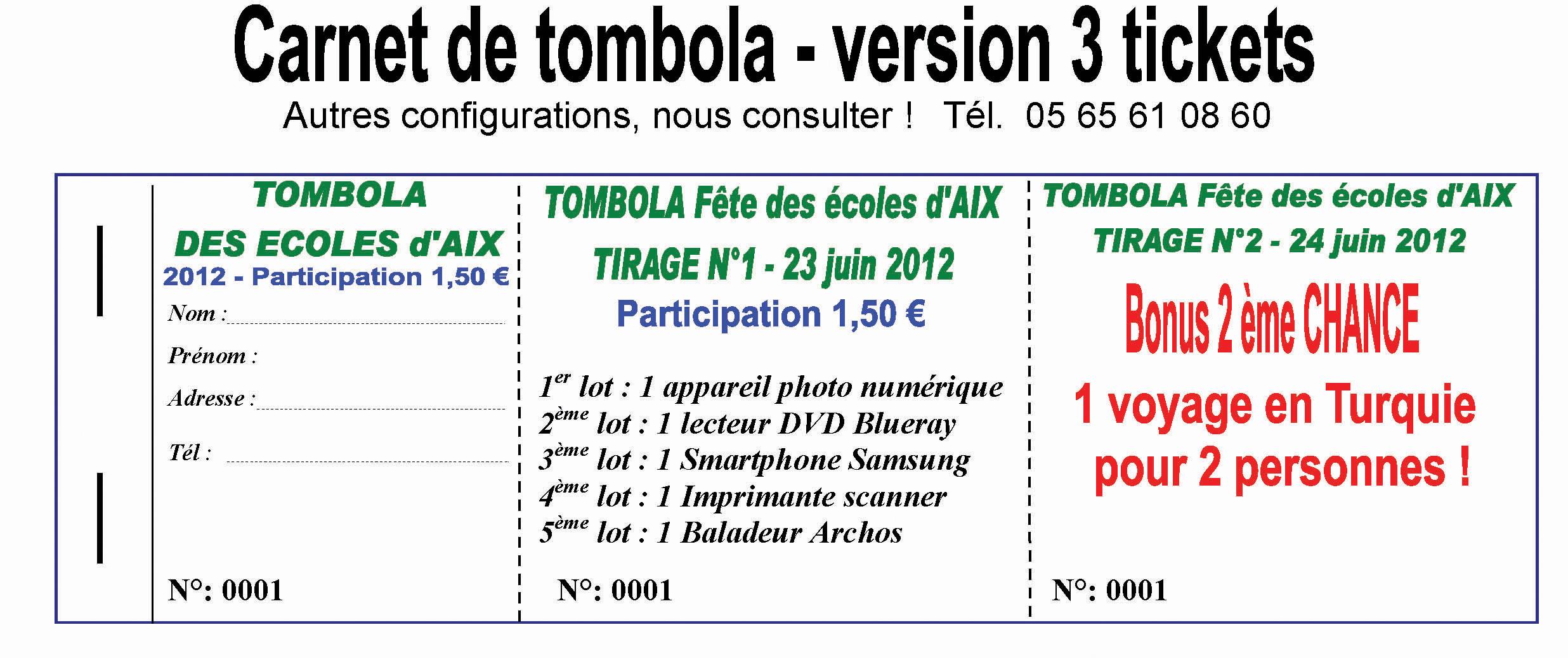 Carnets de billetterie carnets de tombola carnets de titre transportimap imprimerie - Salon creation et savoir faire billet gratuit ...