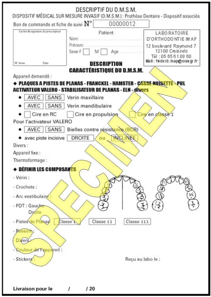 Visuels proth sistes dentairesimap imprimerie - Duree de validite d un devis ...